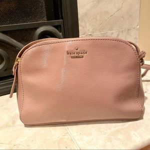 New Kate Spade Blush Textured Patent Handbag